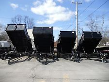 "BRAND NEW 2018 83"" X 12' DUMP TRAILER 12000# G.V.W. LOADED RAMPS D-RINGS ECT.heavy equipment trailers apply now www.bncfin.com/apply"