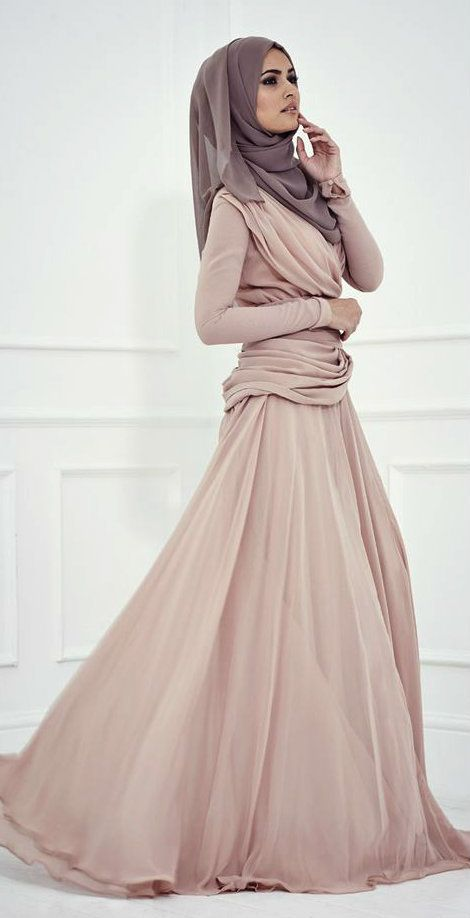 111 best images about elegant Hijab Dress! on Pinterest | Sheer chiffon Brown maxi dresses and ...