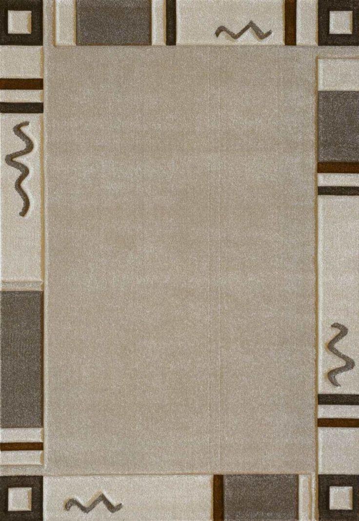 Lalee 347089048 Designer Teppich Muster Bordre Konturenschnitt Beige TOP Preis