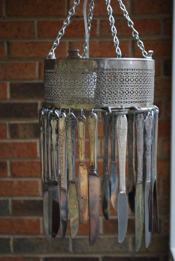 Love this silverware chandelier