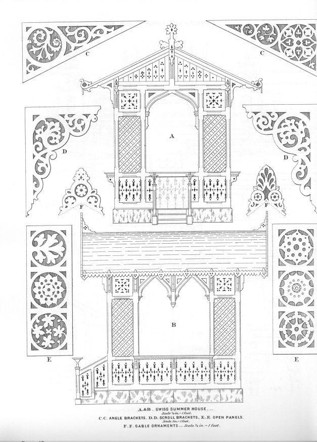 Victorian architectural details fretwork pinterest for Architectural gingerbread trim
