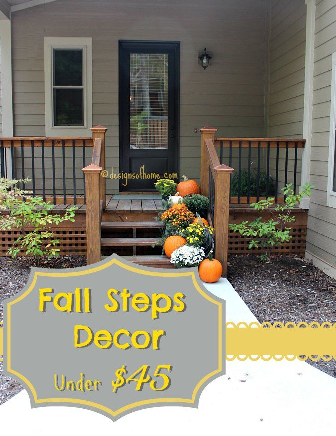 Decorate Front Steps for Fall