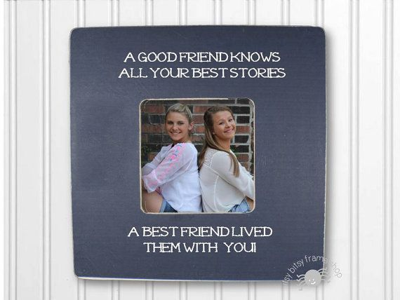 Best Friend Gift Friend Frame A Good Friend by itsybitsyframeshop