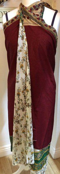 Festival hippy long silk wrap skirt / dress #60