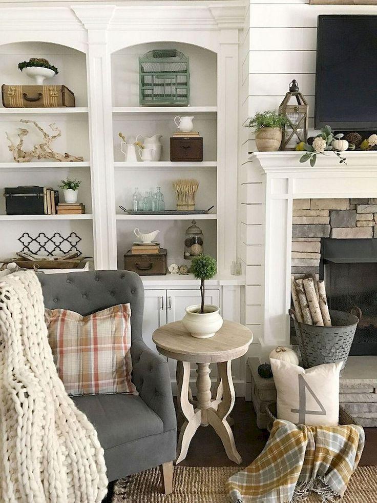 33 comfy rural farmhouse living room furniture decor