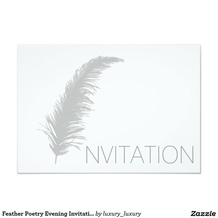 Feather Poetry Evening Invitation Vip Invitation
