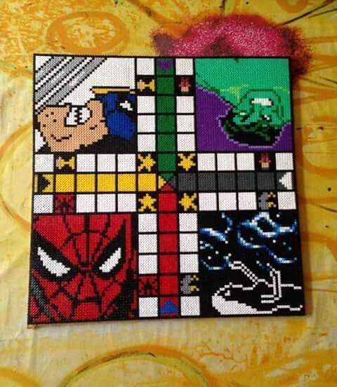 Marvel Ludo Board Game Perler Beads