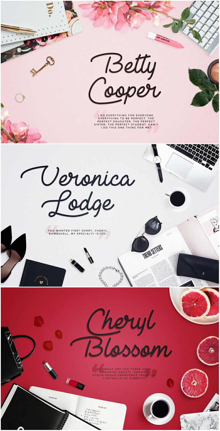 Riverdale Ladies: Betty Cooper | Veronica Lodge | Cheryl Blossom