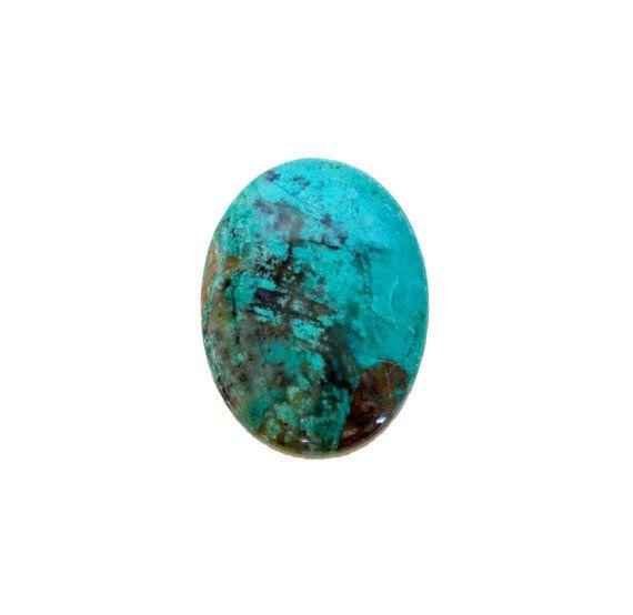 Chrysocolla oval cabochon 54.00 carat by SARAHHUGHESfinegems