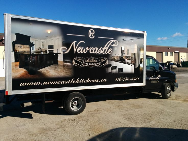 Cube Van Full Wrap for New Castle Kitchens | Design, Print & Install by Side Effects Graphics