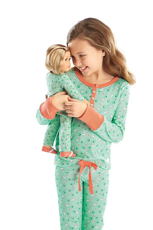 American Girl Kit's One-Piece Pajamas & Puppy Print Pajamas for Girl