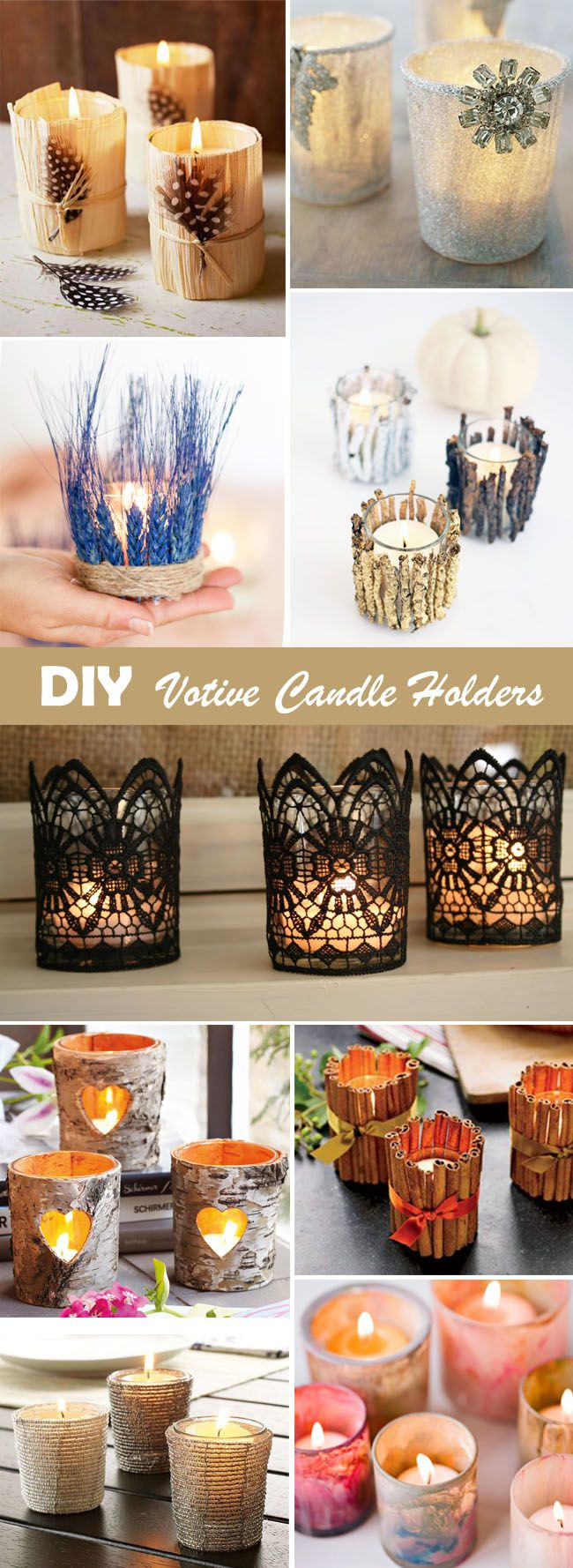 DIY gorgeous votive candle holders wedding decor ideas