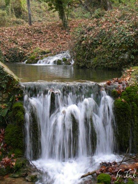 One of Zaholi's counltess small waterfalls