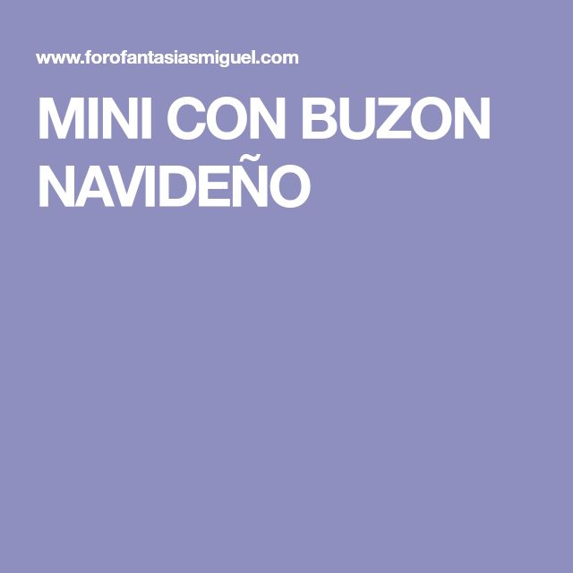 MINI CON BUZON NAVIDEÑO