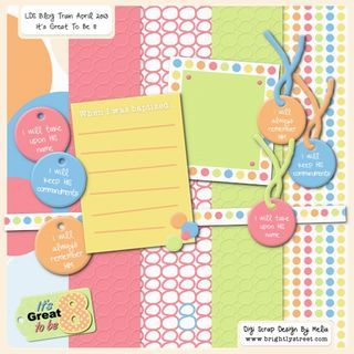 """""""Great to be Eight"""" L.D.S. Blog Train Freebies ***Join 1,520 people and follow our Free Digital Scrapbook Board. New Freebies every day."""