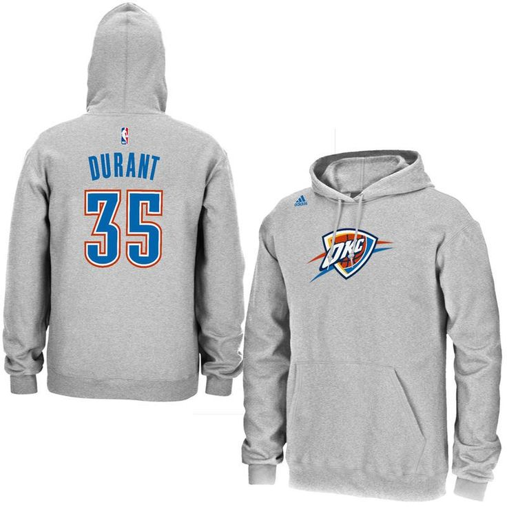 Kevin Durant Oklahoma City Thunder adidas Name & Number Pullover Hoodie – Gray - Fanatics.com