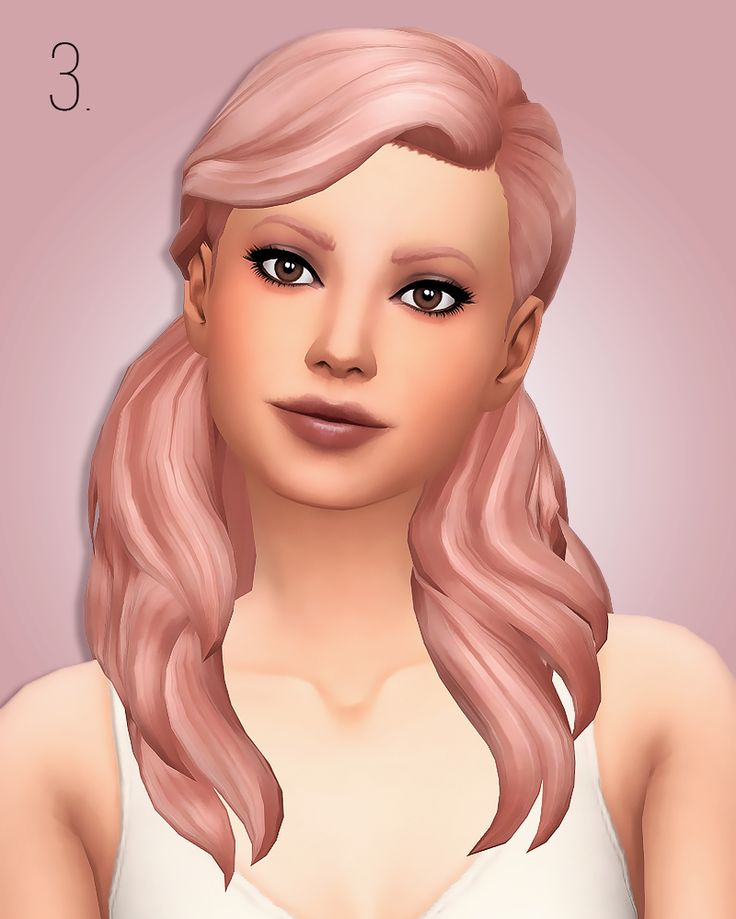 I had to have some CC to match the add ons for all the EA hairs in simrocuted's palette, so here it is! These are not separate but rather add swatches to the original hair, with the sequence starting...
