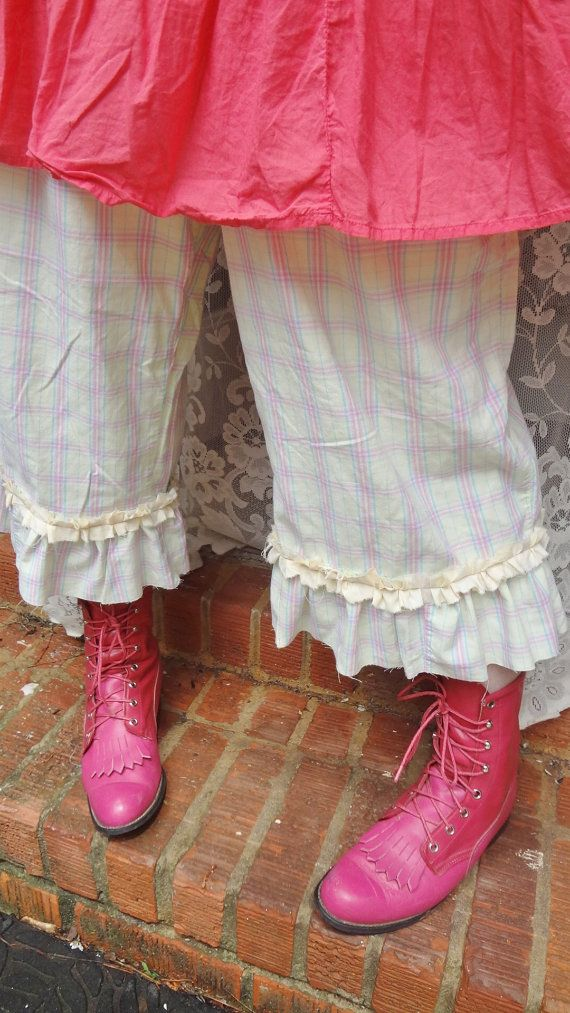 Pastel Plaid Cowgirl Bloomers Mori Girl by BerthaLouiseDesigns, $39.95