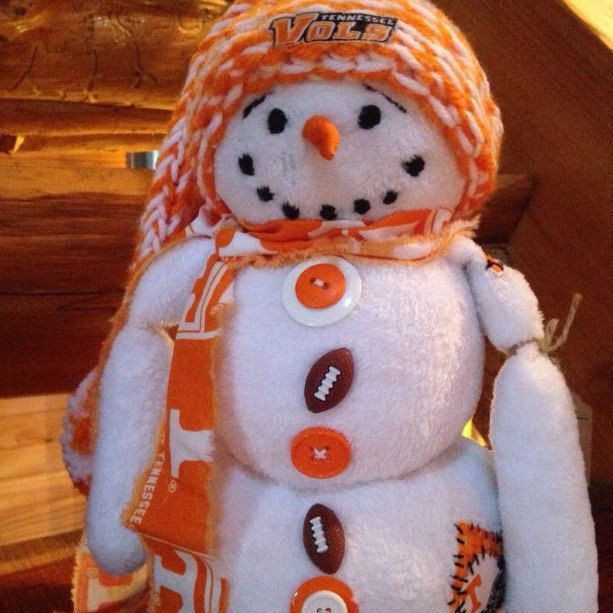 Tennessee Football Inspired Snowman