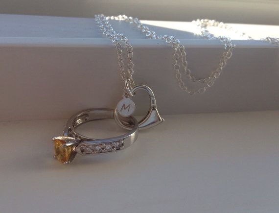 Personalized ring holder necklace: wedding by MaiLovelyThings