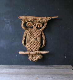 large owl macrame - Google Search