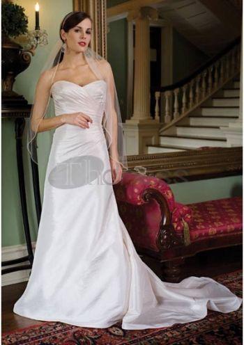 Abiti da Sposa Vintage-Principessa cappella treno taffettà abiti da sposa vintage