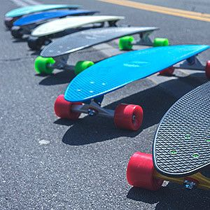 """Penny Skateboards 22"""" - Penny Cruiser complete skateboard from Penny Skateboards. - Custom plastic injection molded Penny skate deck. - Great for cruising around town, at work or on campus, cutting so"""