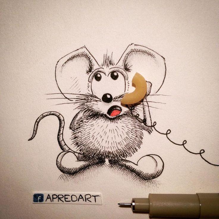 Мышки рисунки прикольные, добрым утром