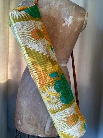 Yoga Bag - Vintage Cotton kantha - 70's Vali-aum!