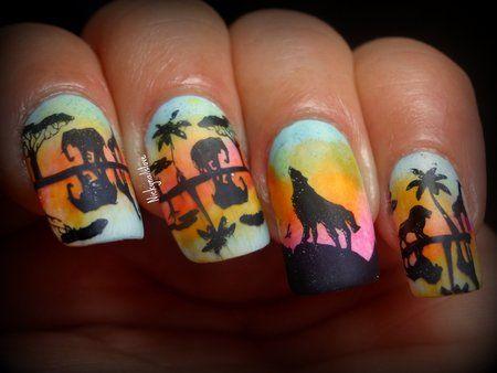 Wild Safari #elephant #animalnails  #nailart - bellashoot.com