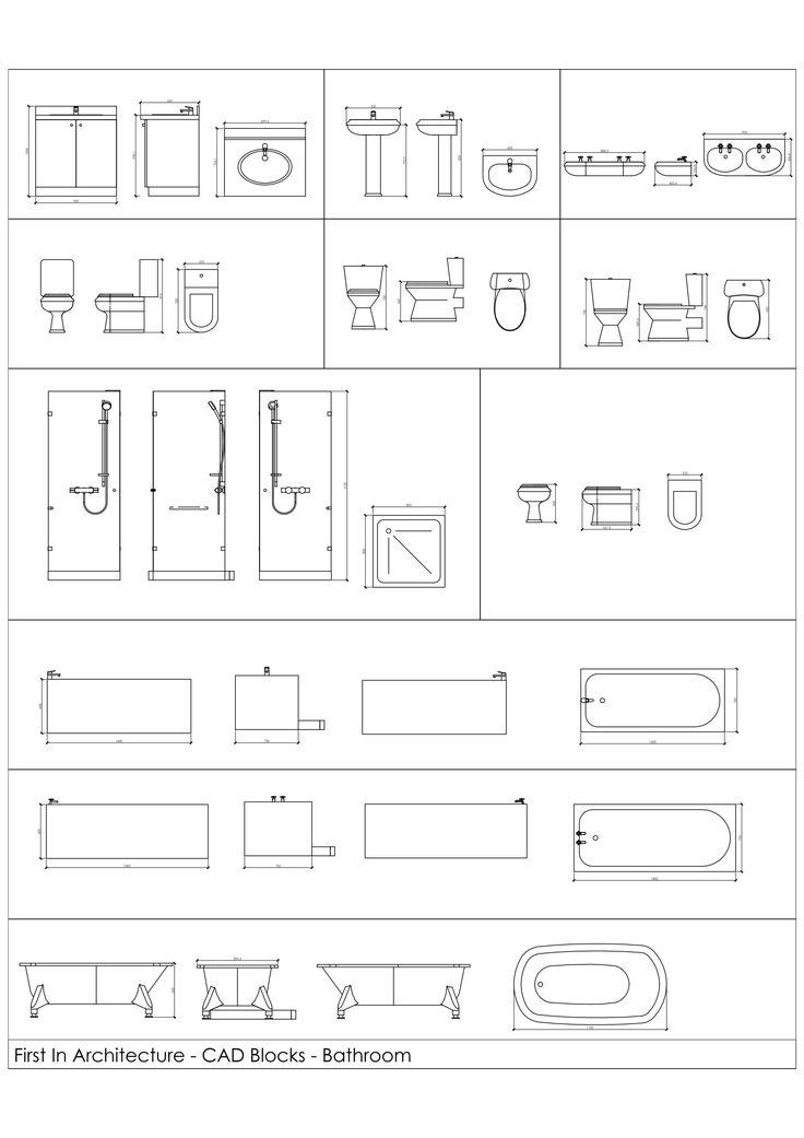 8 best autocad blocks images on pinterest cad blocks for Bathroom accessories cad block