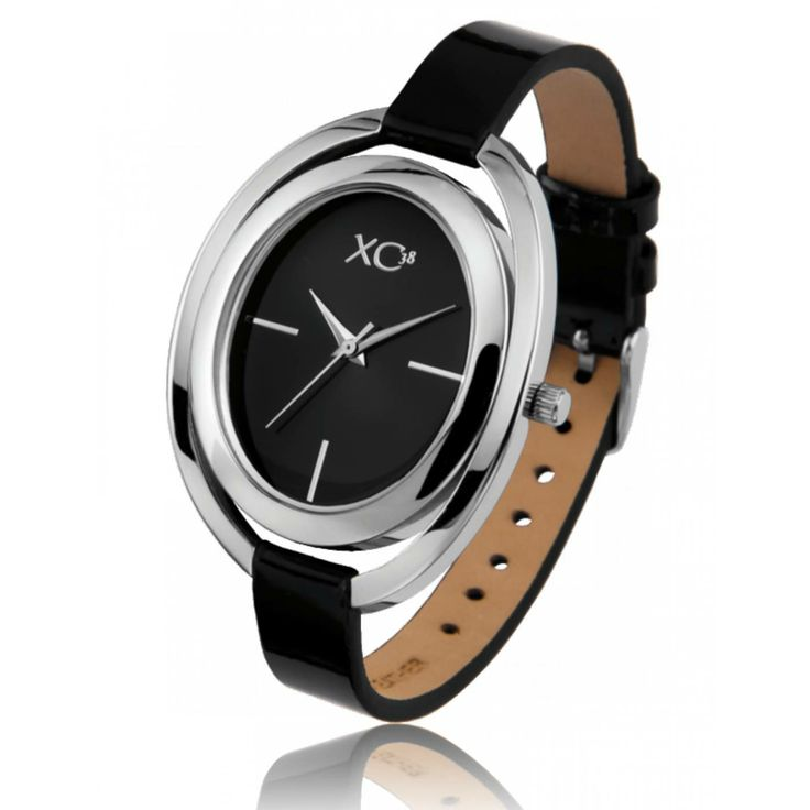 Ladies stainless steel STEPPES black watches - Xc38