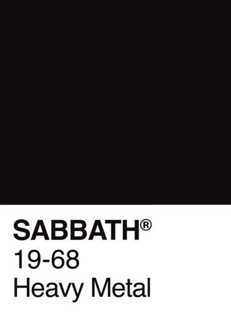 Pantone Black Sabbath By Kreadid In 2019 Black Sabbath