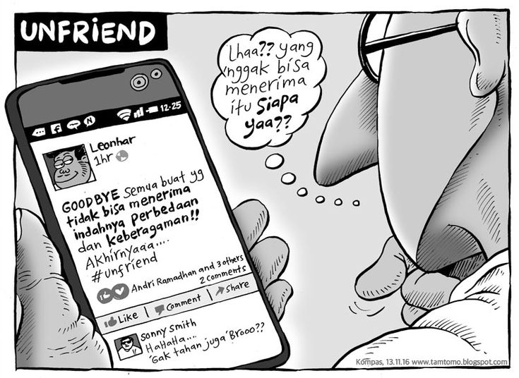 Kartun Kompas Minggu Edisi 13 November 2016: Mice Cartoon - #Unfriend