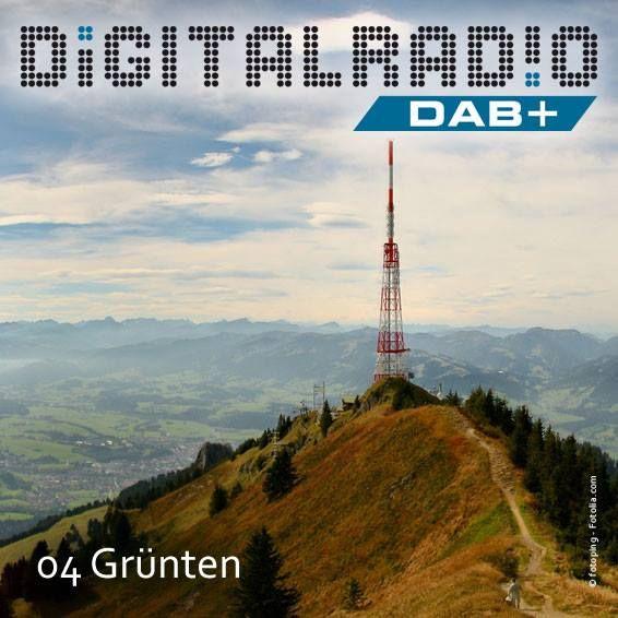 (4) Grünten/Oberallgäu * am Alpenrand gelegener hoher Bergrücken * auch Wächter des Allgäus genannt * 1951 begann der Bayerische Rundfunk mit UKW den Senderbetrieb auf der Hochwartspitze (1670 m) * bereits seit 1999 wird von hier auch Digitalradio gesendet *