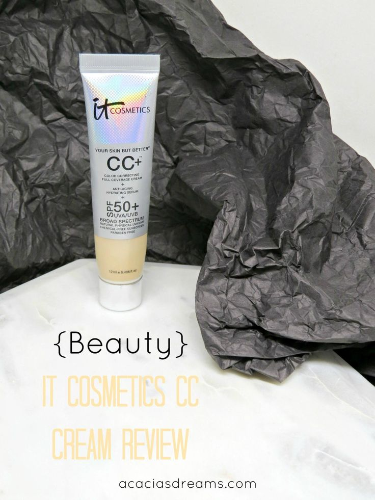 {Beauty} IT Cosmetics CC Cream Review