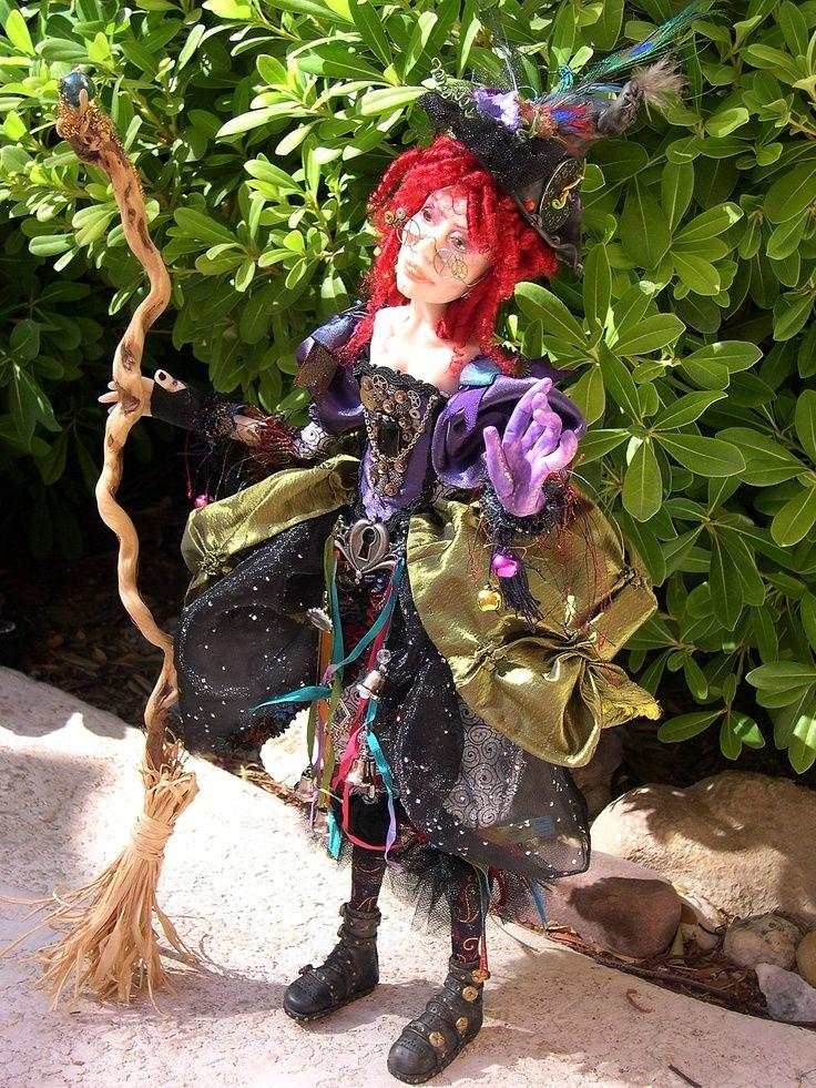 Steampunk witch doll | Steampunk Witch | art dolls