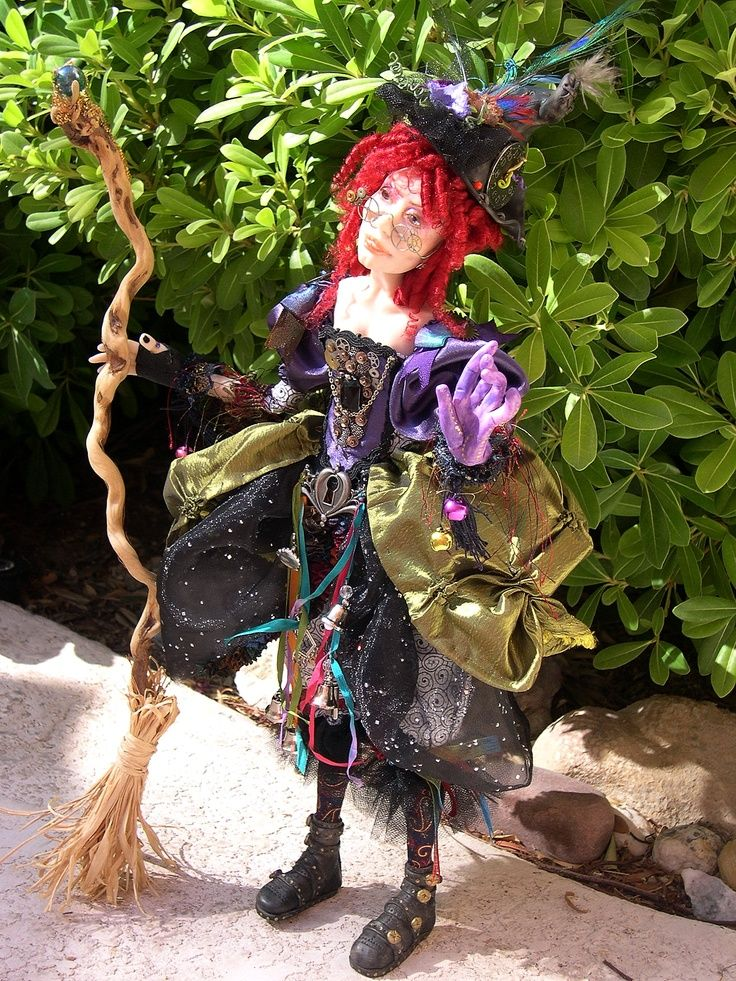 Steampunk witch doll | Steampunk Witch | art dolls