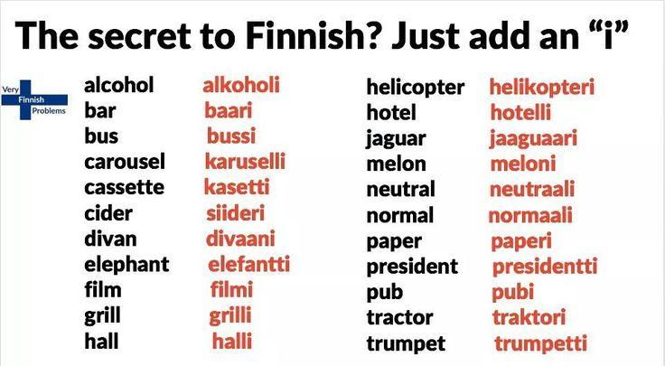 Learn useless Finnish