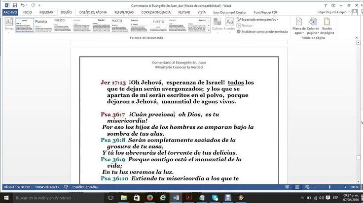 El Evangelio San Juan 4 vs 11al15