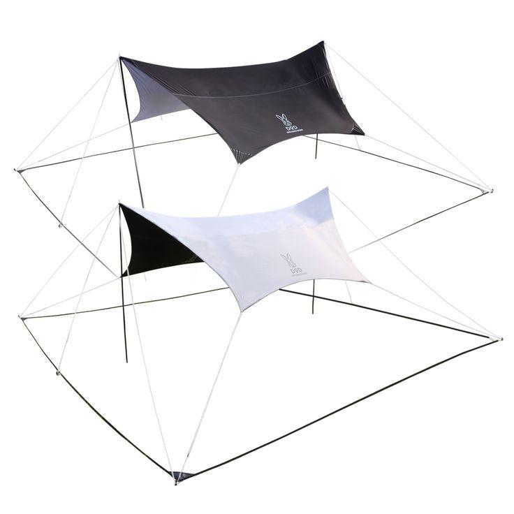 DOPPELGANGER OUTDOOR (ドッペルギャンガーアウトドア) 略してDOD。一人でもキレイに簡単に立てやすい。スマートなヘキサタープ。 #キャンプ #アウトドア #テント #タープ #チェア #テーブル #ランタン #寝袋 #グランピング #DIY #BBQ #DOD #ドッペルギャンガー