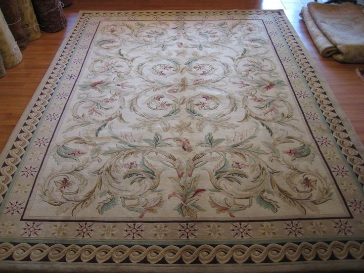 10'x14' Hand Knotted wool French Savonnerie thick and plush Area Rug New #24147 #HandMade #TraditionalEuropean