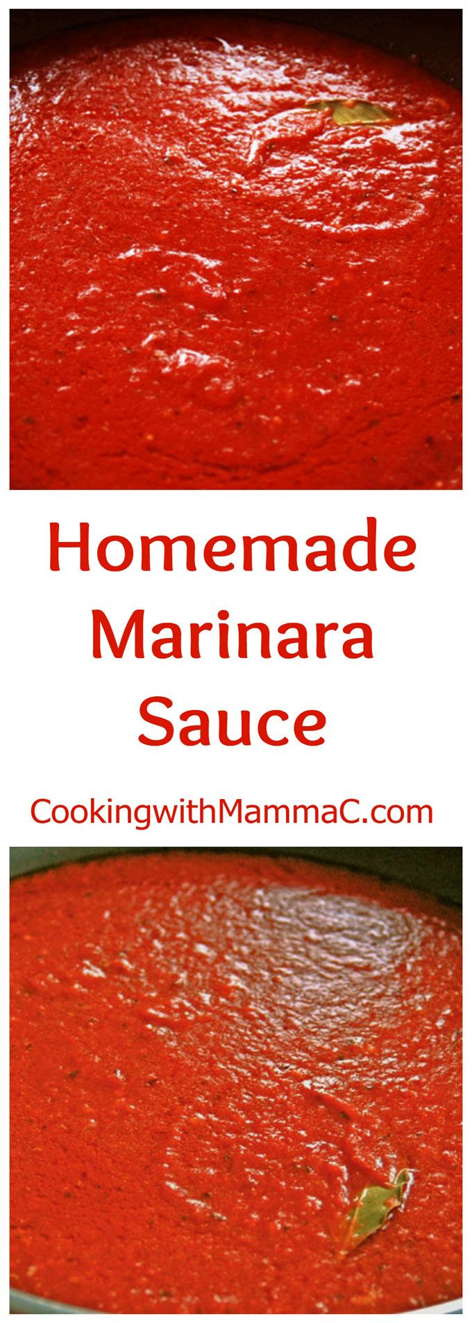 Homemade Marinara Sauce - My go-to recipe for authentic homemade Italian pasta sauce with no added sugar! So quick and easy! Vegan and gluten free.