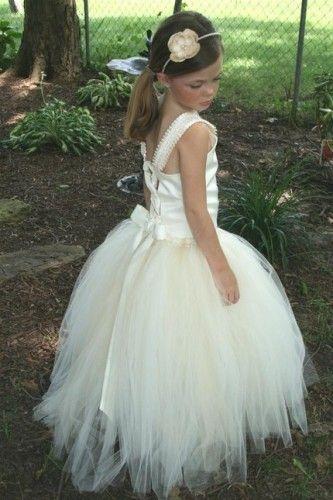 Elegant flowergirl tutu dress