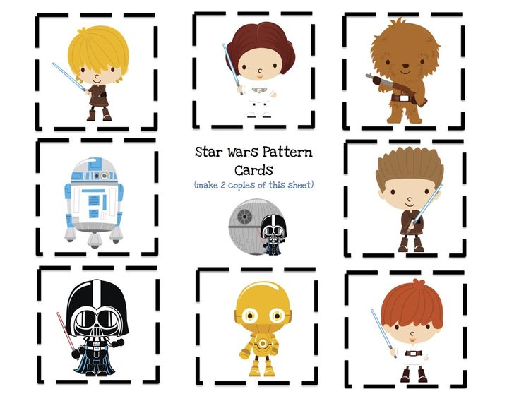 Star Wars pattern cards.