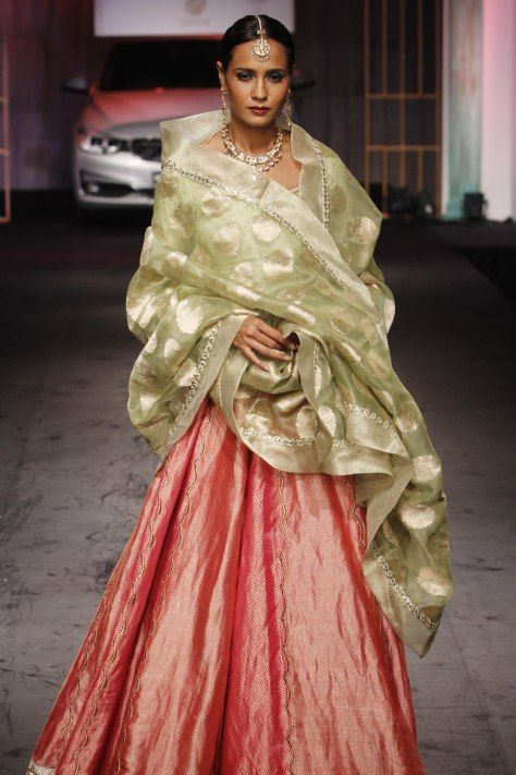 Kotwara by Meera & Muzaffar Ali https://www.facebook.com/KotwaraStudiosOfficial at BMW @IndiaBridalWeek #IBFW2014