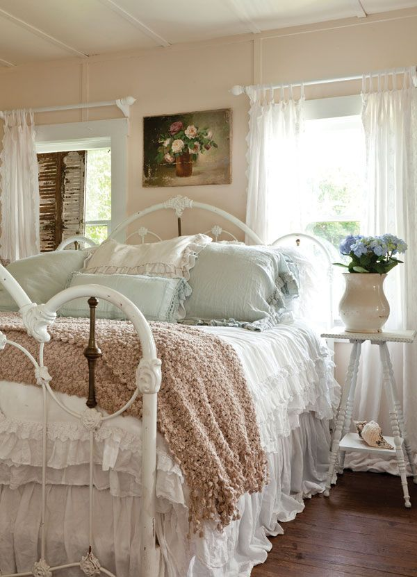wonderful romantic shabby chic bedroom | The bedroom is a romantic retreat. | Not So Shabby Chic ...