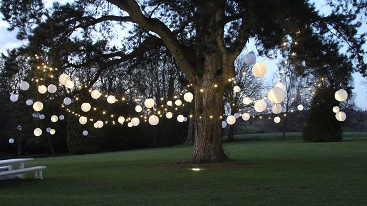 Festoon Lighting and Ivory Outdoor Lanterns | Hanging Lantern Company