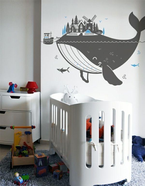 Kreative Wandgestaltung mit Kinderzimmer Wandtattoos  -
