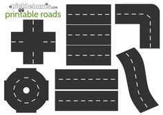 Free printable roads! Download, print and play!